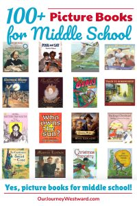Yes, there are plenty of picture books for middle school students! This giant list includes books with rich language and content perfect for older kids.