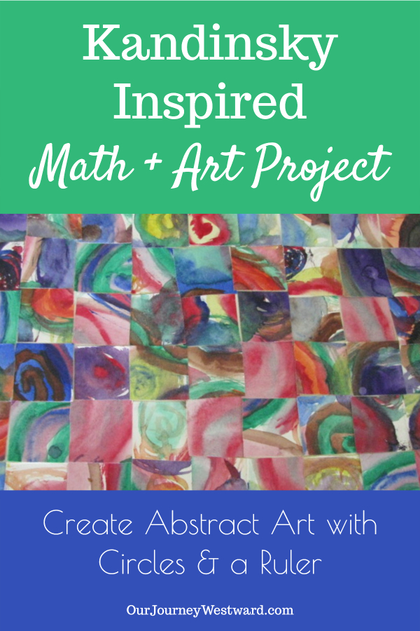 Use art and math to create a colorful Kandinsky-inspired abstract art project.