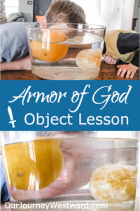 This easy, hands-on lesson makes a great illustration of the Armor of God for kids.