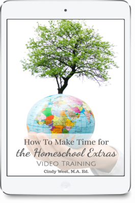 "There are so many wonderful opportunities for homeschoolers. But, with so much that ""has"" to be done, how can you possibly find time for the meaningful extras? Let Cindy help you!"