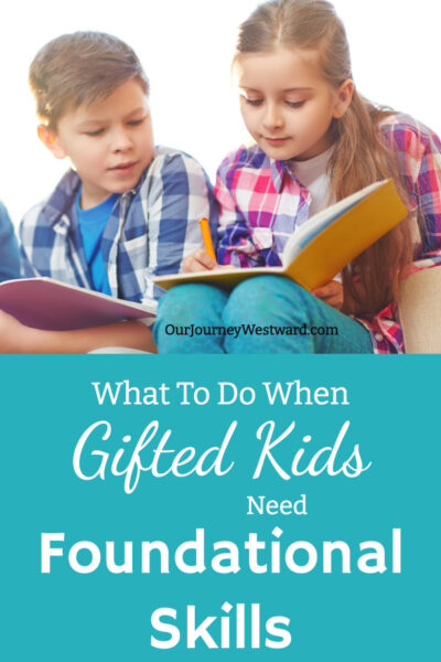 There are some special considerations when gifted kids need to learn foundational skills.