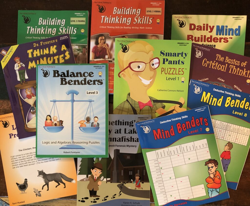 I love The Critical Thinking Co. for our homeschool thinking skills resources!