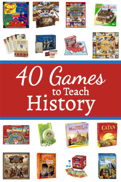 It's fun to use games to teach history in your homeschool!