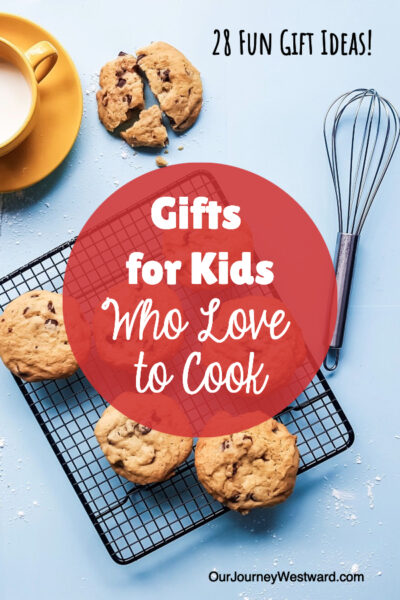These gifts for kids who love to cook are so fun! Perfect for Christmas, birthdays, or any occasion.