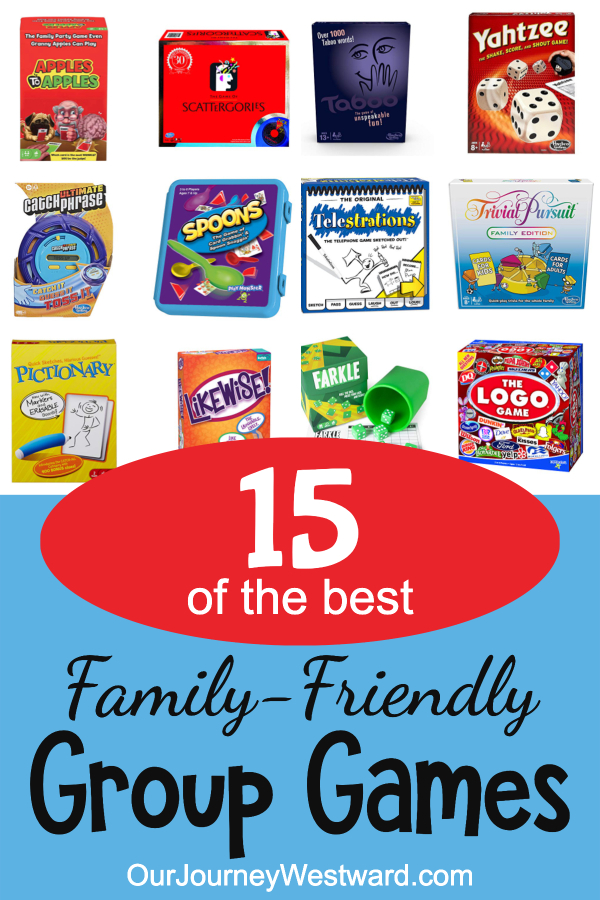 Group games make a party more fun! This family-friendly list is full of tried and true options.