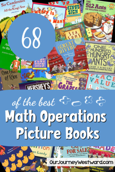 Use math operations picture books to easily help teach the concepts of addition, subtraction, multiplication, and division!