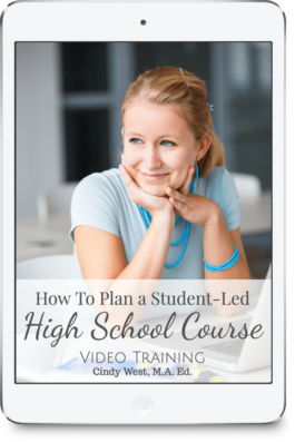 Join Cindy West to learn how to plan student-led high school courses in your homeschool. Strengthening independent learning is easy!