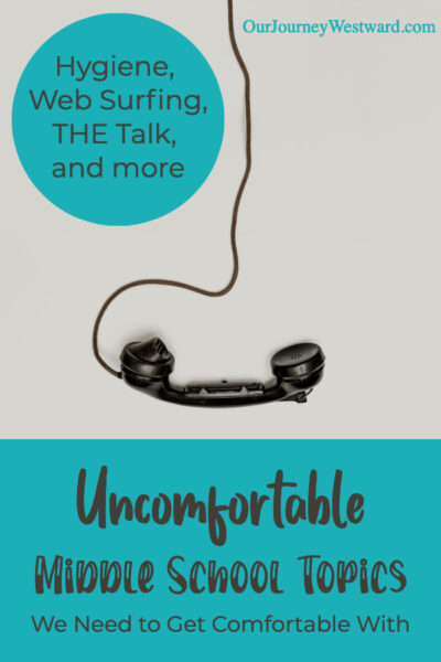 Yes, those uncomfortable middle school topics are hard to talk about, but it's important that we do!
