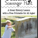 The cemetery is a great place to learn about local history. This free scavenger hunt can be used by all ages!
