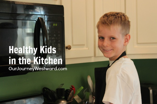 This healthy kids in the kitchen post was inspired by the serious chef in our house - who happens to be nine and also has some special dietary needs.