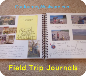 Document memories and sneak in writing assignments with field trip journals.