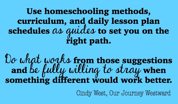 Find freedom and joy in homeschooling when you put methods and curriculum to work for you.