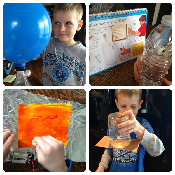 Elementary science experiments are easy using inexpensive prepared kits.