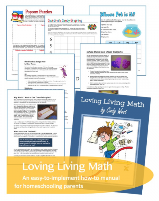 Loving Living Math - a how-to guide for parents. Make math meaningful!