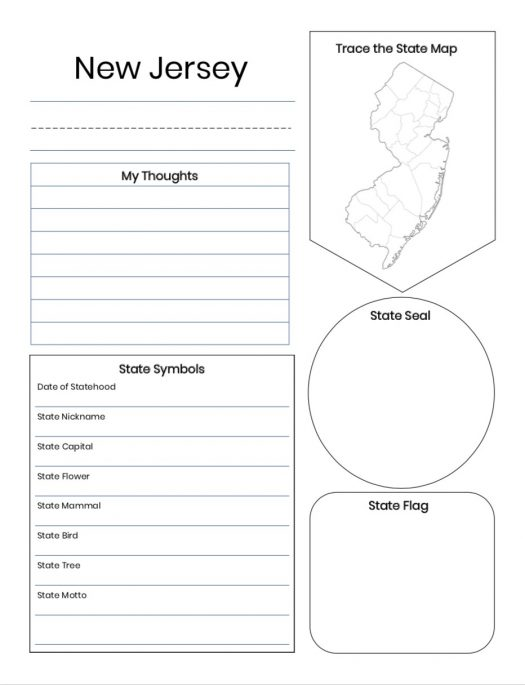 U.S. 50 States Notebooking Pages for 2nd-6th Grades