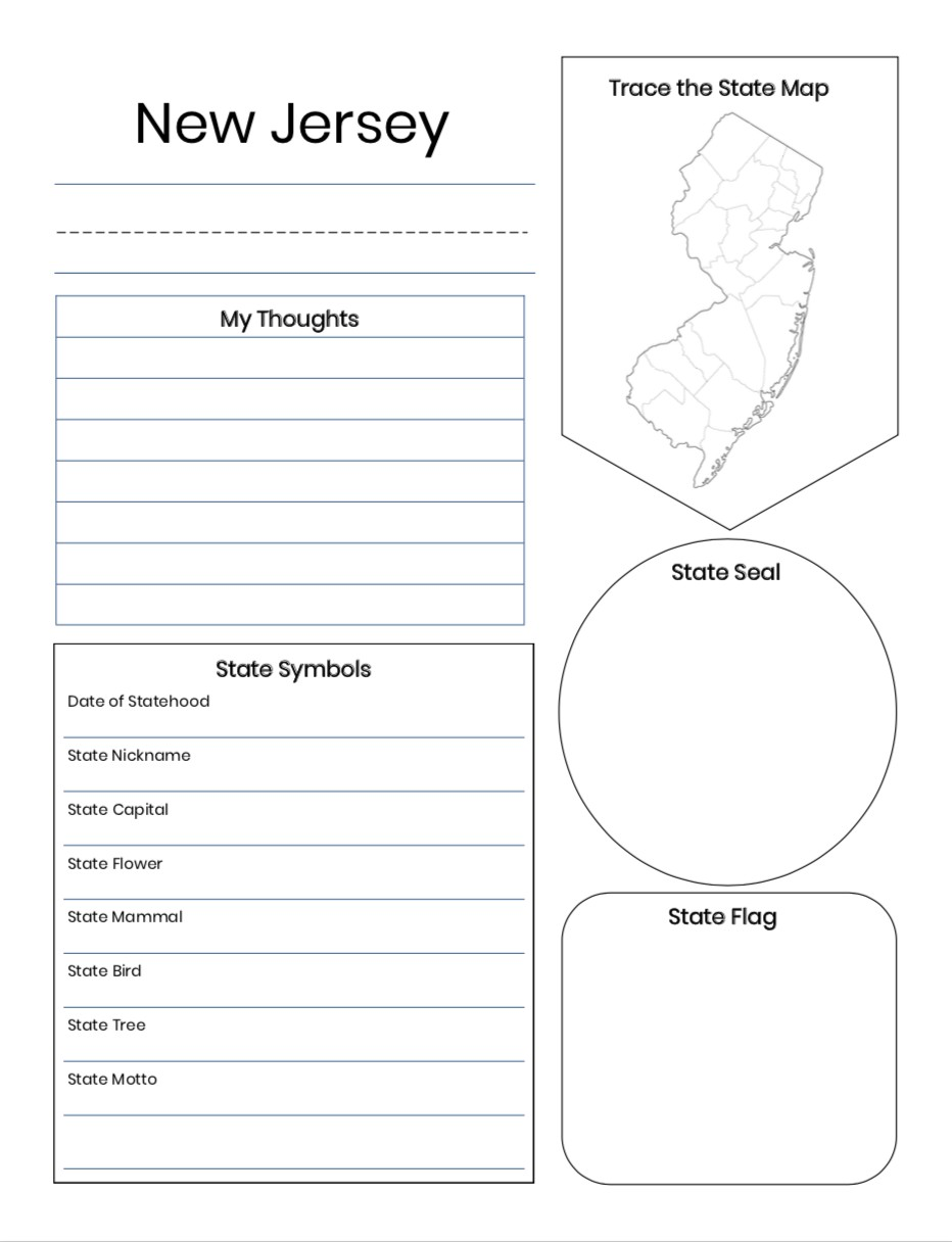 US 50 States Notebooking Pages For 2nd 6th Grades
