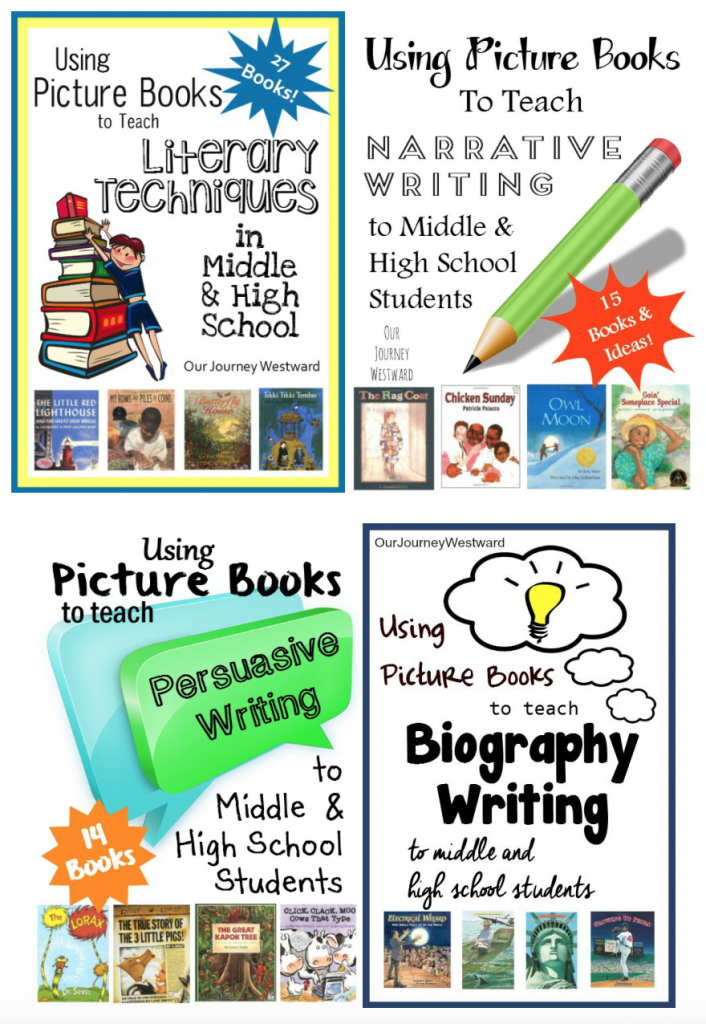 Picture books make highly motivating mentor texts for teaching writing to middle and high school students!