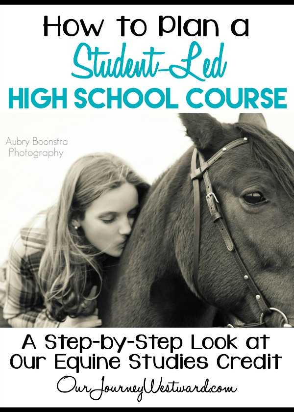 It's really not hard at all to plan a student-led high school class for your homeschool.