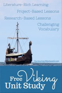 Enjoy a quick viking unit study through living literature and project-based learning. #homeschool #unitstudy #vikings