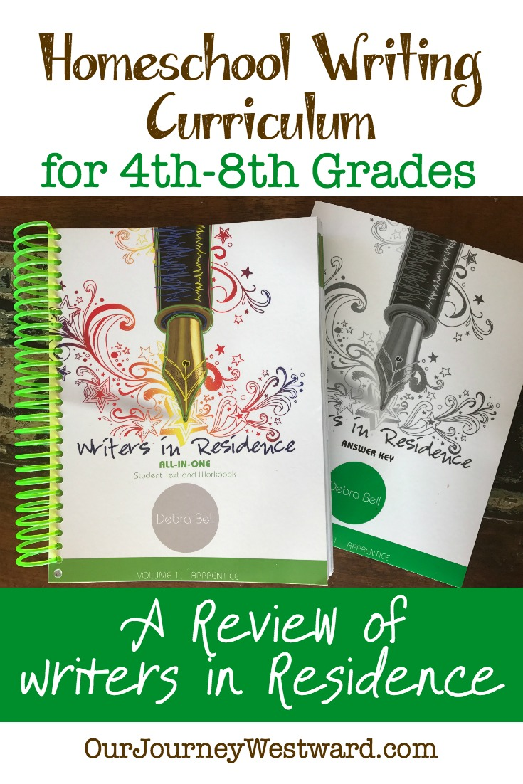 Homeschool Writing Curriculum: A Review of Writers in Residence by Apologia