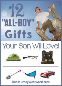Your rough and tumble son will love to see one of these all boy gifts this year!