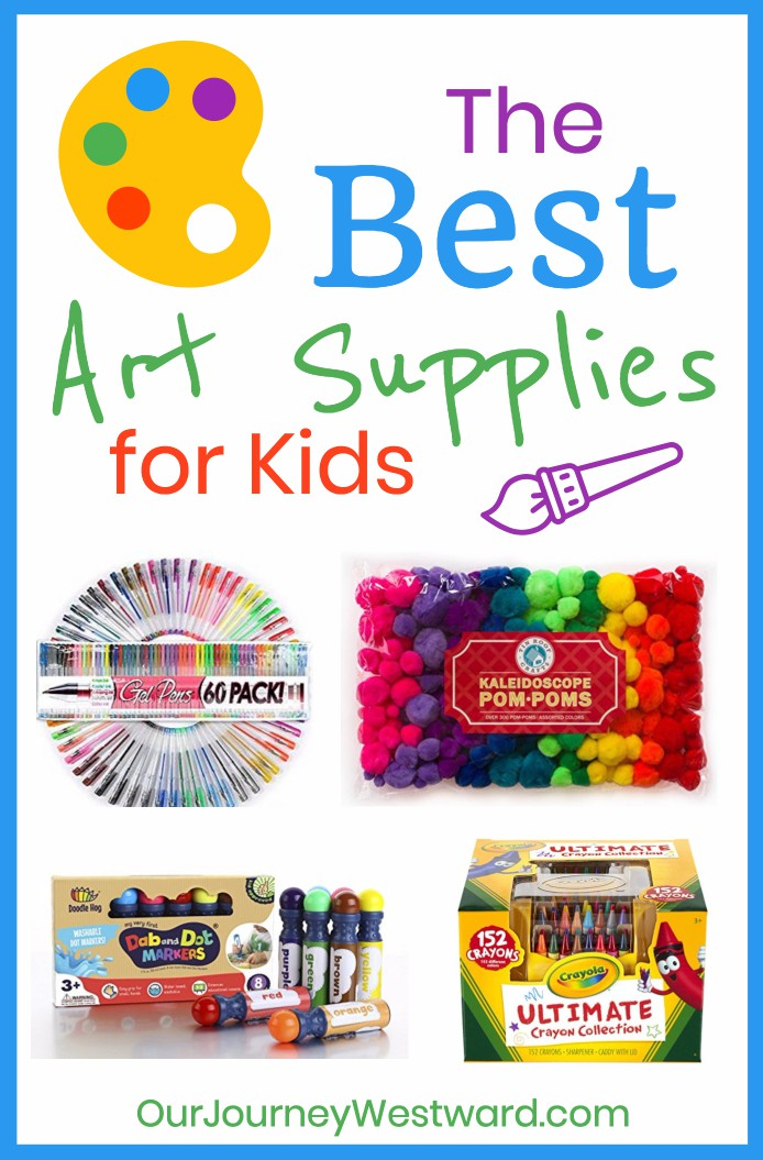 Stock your shelves with the best art supplies for kids to encourage creativity in your home! #art #homeschool