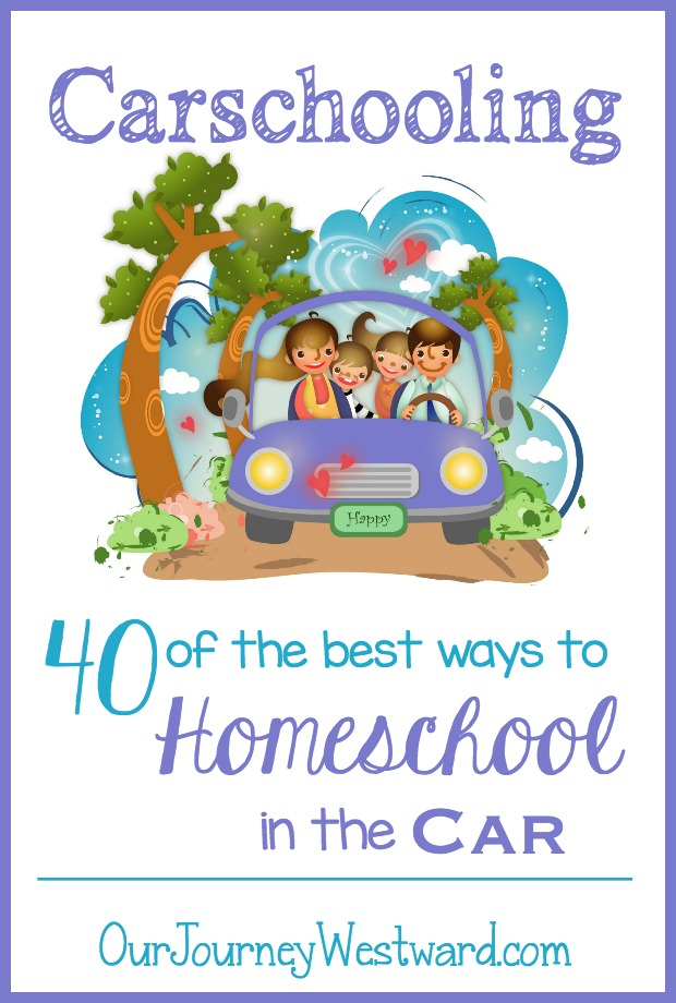 Are there times you need homeschool in the car? These creative ideas will keep you learning while the wheel are turning.
