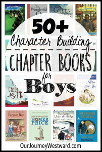 These character building chapter books for boys make great read alouds or read alones for all ages.