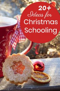 Ideas for creative homeschooling in December. #Christmas #homeschooling