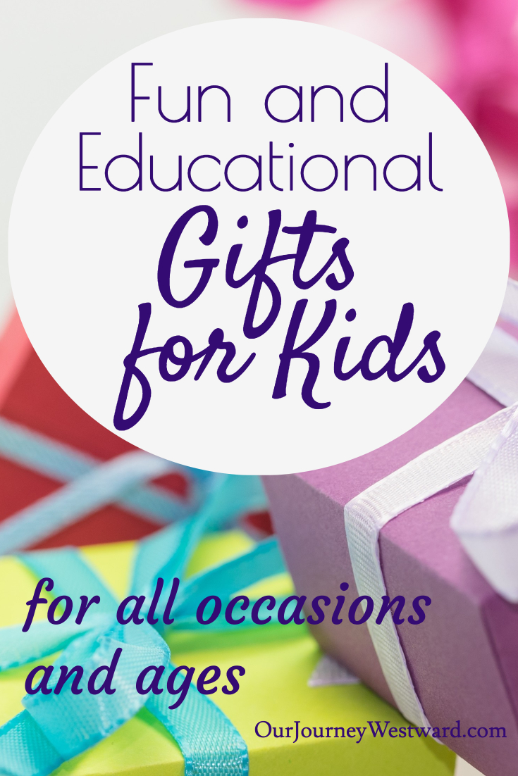 These educational gift lists offer plenty of ideas for gifts that kids love and gift-givers feel good giving! #giftsforkids #giftlists