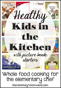 My little chef loves to cook. I'm on a mission to help him learn to cook healthy, whole food recipes. Books are an extra-special ingredient!