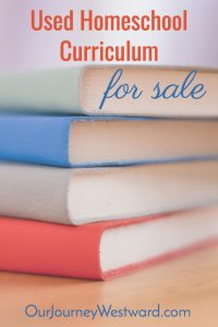 Used homeschool curriculum for sale