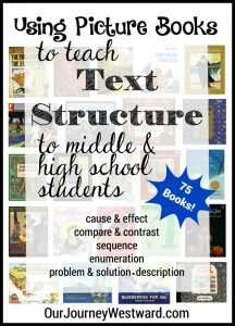 Using picture books to teach text structure to middle and high school students makes for efficient and powerful lessons.