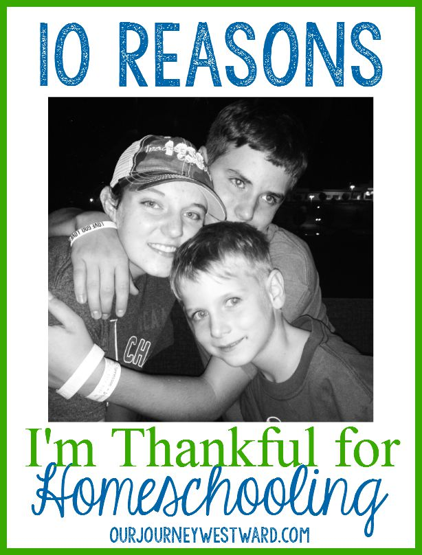 10 Reasons I'm Thankful for Homeschooling