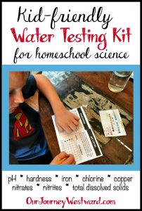 Homeschool science is fun and easy with a water testing kit!